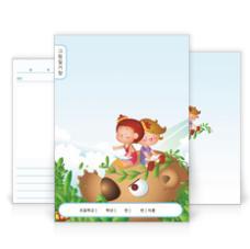 그림일기장(어린이와 귀여운 곰)